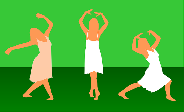 tančící děvče