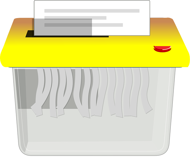 ilustrace skartovačky